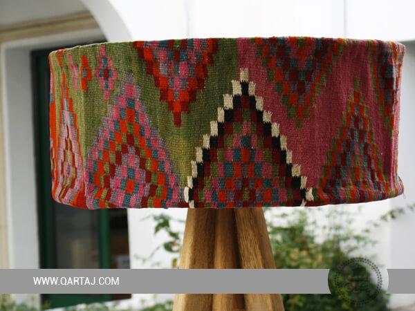 Lampshade Margoum and Palm Wood Handmade Né à Tunis