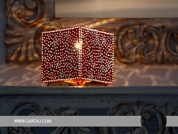 Square Luster/Lampshade with Arabic Calligraphy