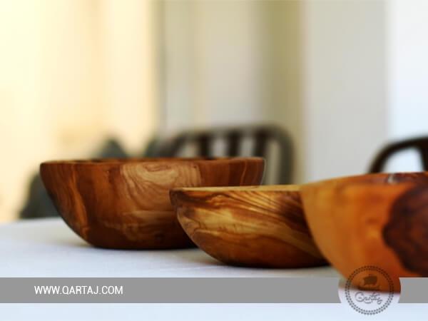Olive Wood Set Of Three Nesting Bowls Large