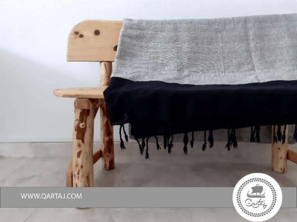 Minimal Grey Black Hamam Fouta Towel XL