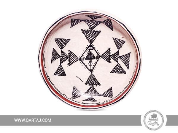 Sejnan traditional deep plate, Tunisian Handicrafts