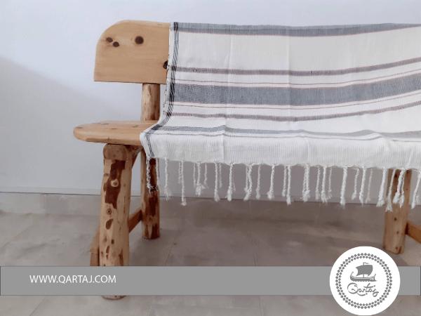 Striped Farmhouse Style Hamam Fouta Towel Spread