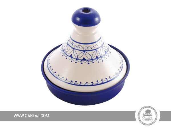 Tajine blue and white collection designed in Tunisia