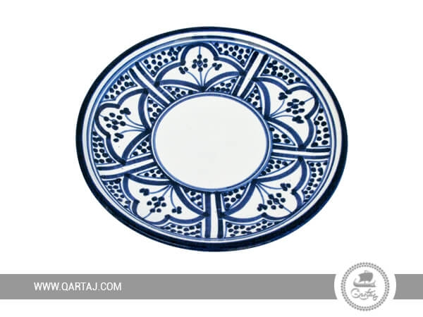 Wholesale Ceramic Plates with blue pattern, Tunisia Handicrafts