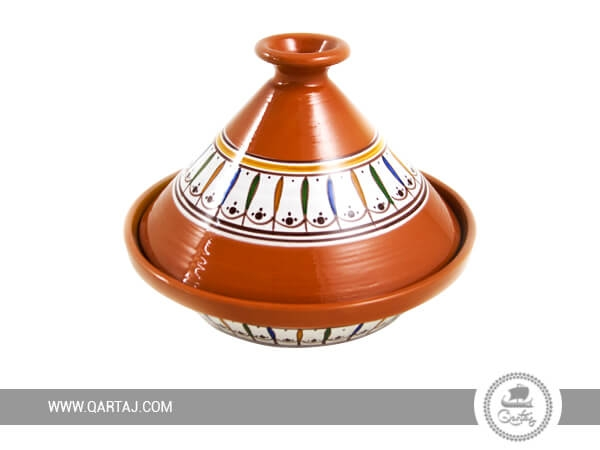 Traditional Terracotta Tajine hand-painted