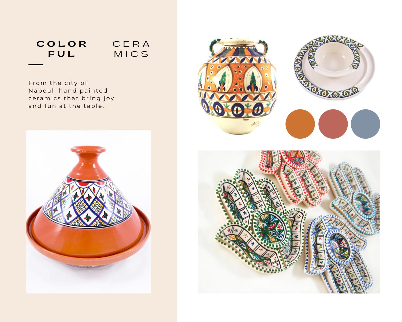 blogpost quarantaine life moodboard colorful ceramics tunisian jar retro antique unique