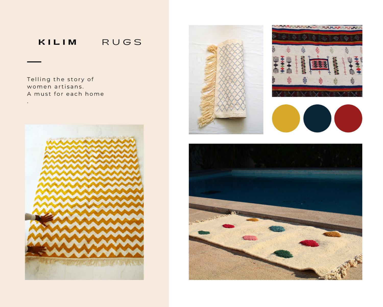 blogpost quarantaine life kilim rugs moodboard tunisian